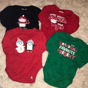 Other - Lot of FOUR girl holiday onesies❗️